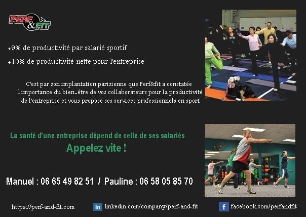 coach sportif entreprise Perf&fit flyer
