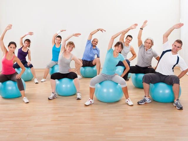 coach sportif entreprise pilates ballon